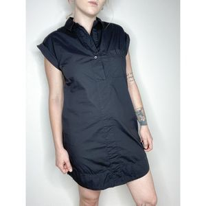 J. Crew | Cotton Poplin Shirt Dress Black | Sz XS